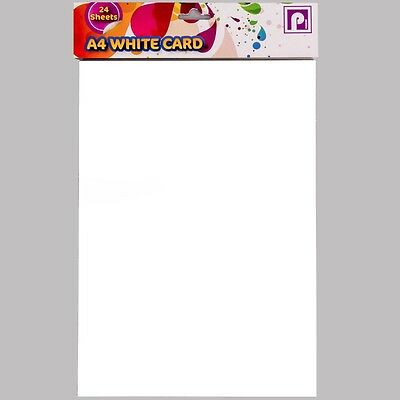 24x A4 THICK WHITE CARD SHEETS Birthday/Christmas Craft Card Making Print Book
