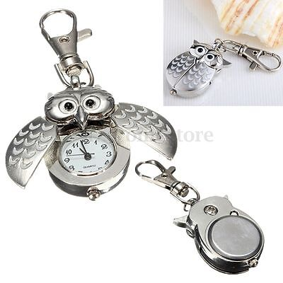 Alloy Owl Pocket Pendant Watch Key Ring Chain Fashion Cute Pocket Pendent Gift