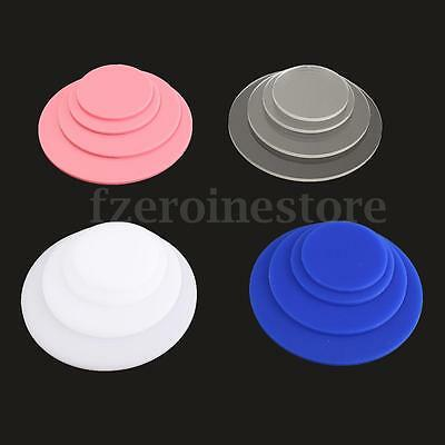 4Pcs Round Acrylic Perspex Discs Plastic Circles 3mm Thick 50mm to 100mm Colours