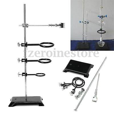 61cm Lab Stand Support Table Scissor Lift laboratory Jiffy Jack Ring Clamp Set
