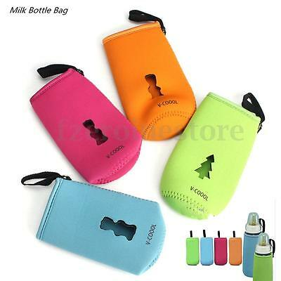 Baby Infant Feeding Milk Bottle Cover Holder Pouch Insulated Warmer Bag Travel
