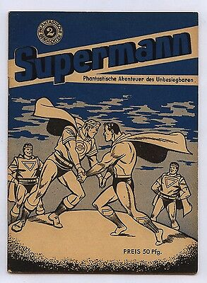 Supermann Nr. 2 Supermann Verlag 1950 Original deutschsprachiges Superman Heft