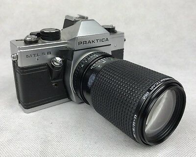 Praktica  MTL5/5B SLR German 35mm film Camera M42 With Pentagon Macro Lens