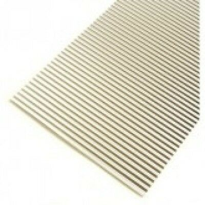 "Aluminium Corrugated Roofing Sheets X 5 Ho Scale 1 1/2"" X 8"" (38 X 203 Mm)"