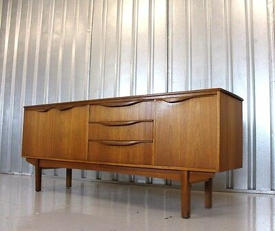 Vintage Retro Mid Century William Lawrence Long Teak Sideboard