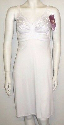 Ladies Full Slip Size 40 D New M&s White Non Wired Full Cup Bra Total Support