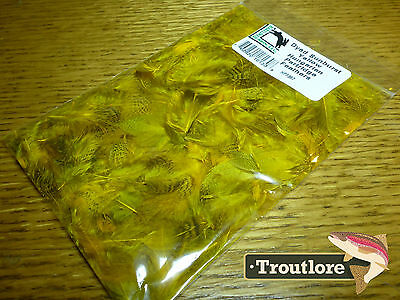 Hungarian Partridge Feathers Sunburst Yellow Hareline - New Flytying Materials
