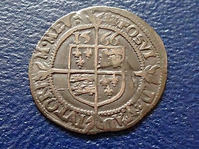 Elizabeth 1St Hammered Silver Threepence 1566 Mm Lion Cross Great Britain Uk