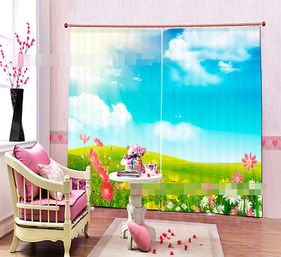 3D Roomy Field Blockout Photo Curtain Printing Curtains Drapes Fabric Window CA