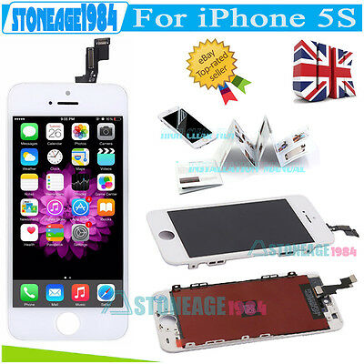For iPhone 5S White Replacement LCD Display Screen Touch Digitizer Full Assembly