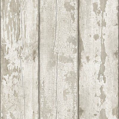 White Washed Wood Wallpaper by Arthouse - 694700