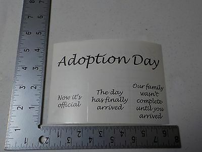 NRN DESIGNS ADOPTION DAY CLEAR WORDS STICKERS SCRAPBOOKING NEW A2567