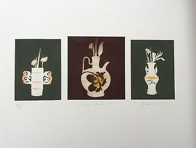 FRANK TINSLEY RE Limited Edition ETCHING Three Chinese Vases 60/175