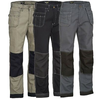 Mens Heavy Duty Pro Work Trousers With Kneepad & Holster Pockets Cargo Combat