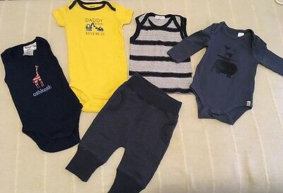 5xPure Baby Boy Oshkosh And Cotton On Carters Baby Bundle Size 000&00