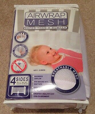 Airwrap Mesh Cot Bumper (4 Sides) - Excellent Condition