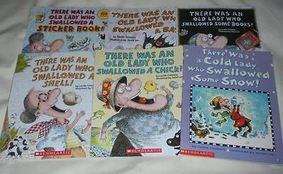 Set of 6 Lucille Colandro picture books: There was an old lady..