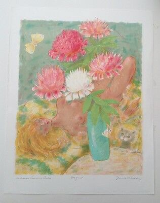 "EMIL WEDDIGE 1907-2001 Limited Edition LITHOGRAPH ""Bouquet"" Pencil Signed"