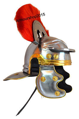 Collectible Roman Officer Centurion Helmet Armor Red Plume - Adult Size Medieval