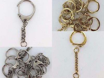 Keyring Chains Multi Packs Silver Gold Crafting Accessory Part Reduced Wholesale