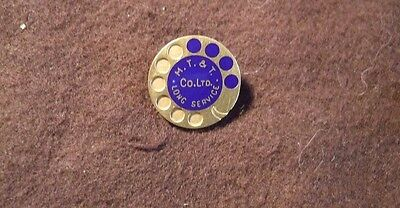20 yr pin back > Maritime Telephone Co > Halifax, Nova Scotia no gold content