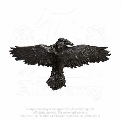 Alchemy Gothic 'BLACK RAVEN HAIRCLIP' Hair Slide Poe Dark