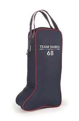 Shires Navy Team Long Boot Bag Travel Storage Carry Bag 9945