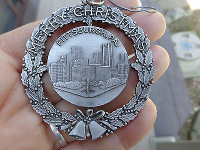 Pittsburgh,Pa. Pewter Christmas Ornament by Fort U.S.A