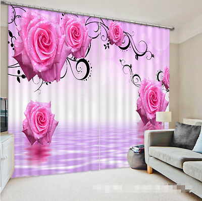 3D Rose Vine 46 Blockout Photo Curtain Printing Curtains Drapes Fabric Window CA