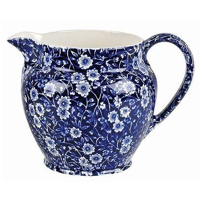 Burleigh ware Blue Calico Dutch jug small 1/2 pt