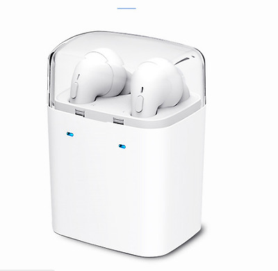 Apple iPhone 7/7 Plus Compatible Bluetooth Wireless Earbuds Headset - White