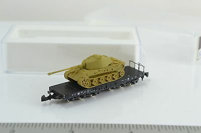 Marklin 82351 Heavy Flat Car w/ German Military Tank 1:220 Z Scale (Z2)