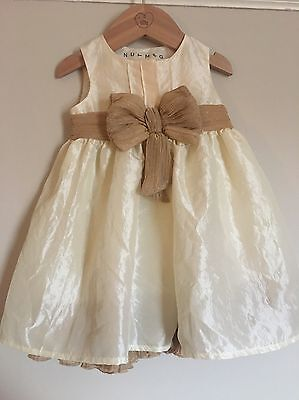 Baby Girl Party Dress Cream & Gold Bnwt 3-6 Months