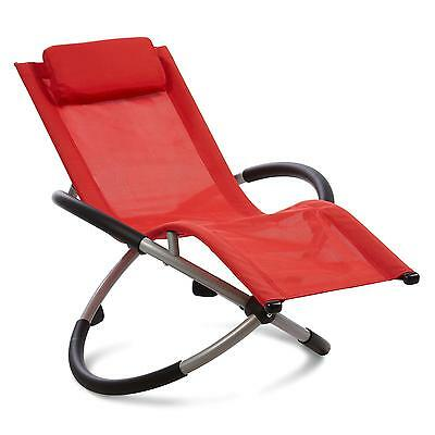 Blumfeldt Chillywilly Red Garden Home Rocking Chair Outdoor Nursing Porch Pillow