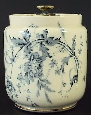 Unusual Antique Taylor, Tunnicliffe & Co. Seal-Able Porcelain Jar Barrel Best!!