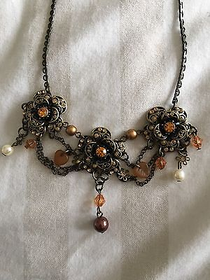 Austrian crystal necklace and earring set - New In Box