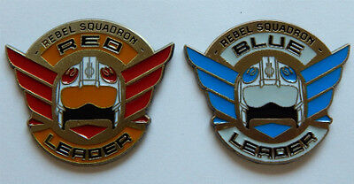 RED and BLUE LEADER DISNEY PIN LOT star wars rogue one rebel squadron trader