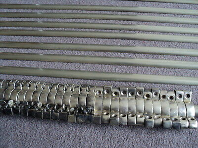 Full Set 14 Brass Stair Rods And 28 Brackets