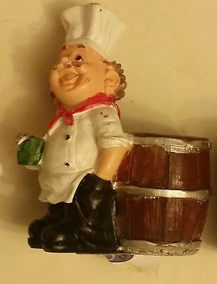 "RARE Fat Chef Toothpick Holder # 3, Kitchen Decoration, approx 4"" high,"
