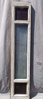 Antique Stained Glass Window Sash Transom Sidelight Vintage 48x9 575-17R