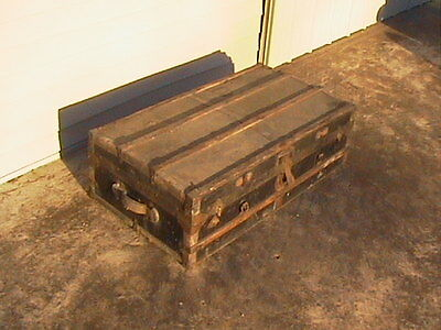 Steamer Trunk Antique Travel Trunk Chest Vintage