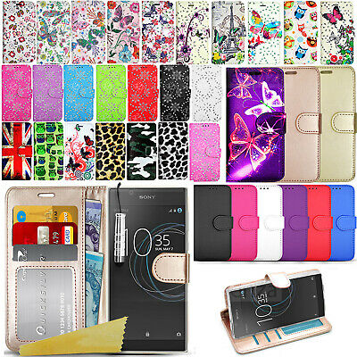 For Sony Xperia L1 G3311 G3313 - Wallet Leather Case Flip Book Cover + Film