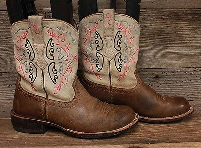 Ariat Womens Fatbaby Round Toe Pink Western Roper Boots Sz 7B