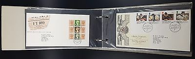 Album of 60 First Day Covers 1980s, inc Definitives, Many With Special HS