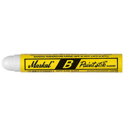 Markal 80220 B Paintstik Solid Paint Ambient Surface Marker, White (Pack of 12)