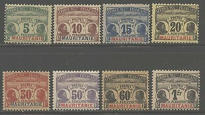Mauritania 1906 Postage Due set Sc# J1-8 mint