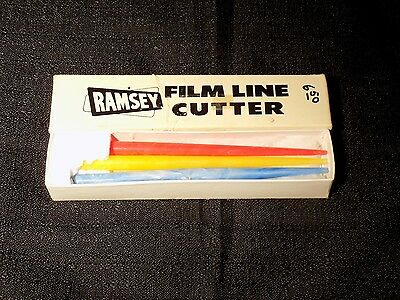 Vintage Ramsey Film Line Cutters 3 Cutters In Original Box