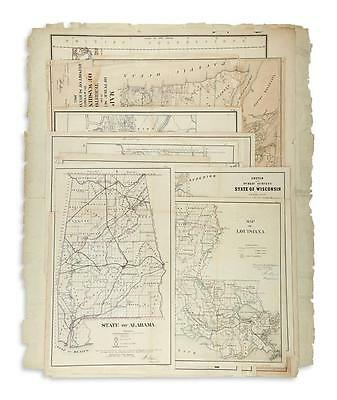 GENERAL LAND OFFICE. Group of 10 lithographed maps. Lot 65