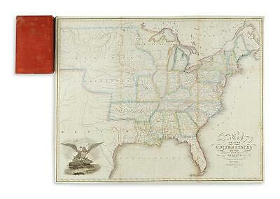 SCHOYER, SOLOMON. Map of the United States Drawn from the Most Approv... Lot 189