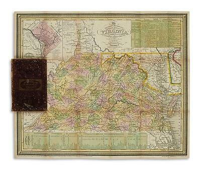 (VIRGINIA.) Young, J.H. The Tourist's Pocket Map of the State of Virg... Lot 211